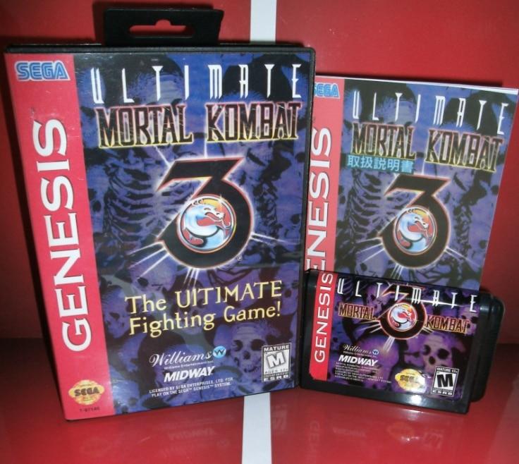 Juegos de Sega tarjeta de Mortal Kombat 3-La Última Fighti con caja y Manual par