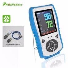 Veterinary Sensor,Handheld Pulse Oximeter,Temperature Probe Blood Oxygen Monitor,2.8 LCD,Pulse Oximetro,CE Approval