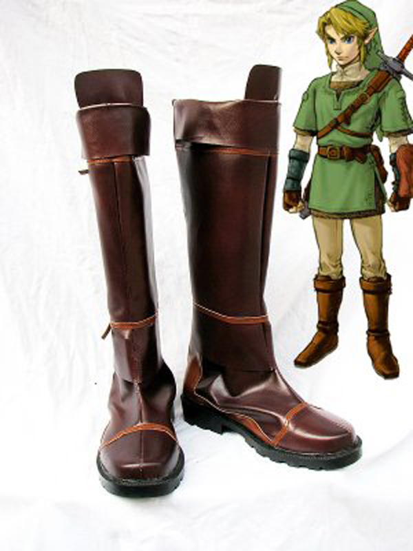The Legend Of Zelda Link Cosplay Boots Shoes Anime Party Cosplay Boots Custom Made For Adult Men Shoes