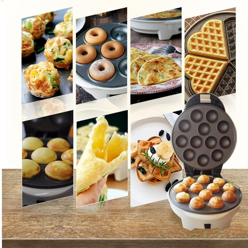 220V DIY Multifunctional Household Electric Waffle Maker Egg Ball Maker Muffin Machine Maker For Breakfast EU/AU/UK