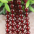 "Free Shipping Fashion Jewelry A++6MM Round Natural Garnet Beads Strand 15.5"" (80 beads) C201"