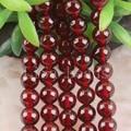 "Free Shipping Fashion Jewelry A++6MM Round Natural Garnet Beads Strand 15.5"" (80 beads) C201"