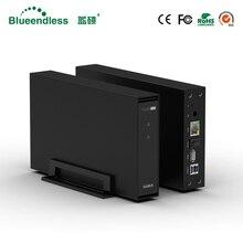 Blueendless wireless NAS storage hdd enclosure 3.5'' sata RJ45 USB 3.0 PC hard disk case стоимость