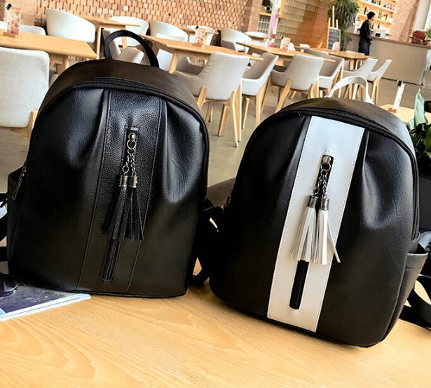 New Fashion Female Tassel Backpacks Teen Casual Korean Style Young Girl Shoulder Bag Hot Modern Preppy Style Schoolbag C113