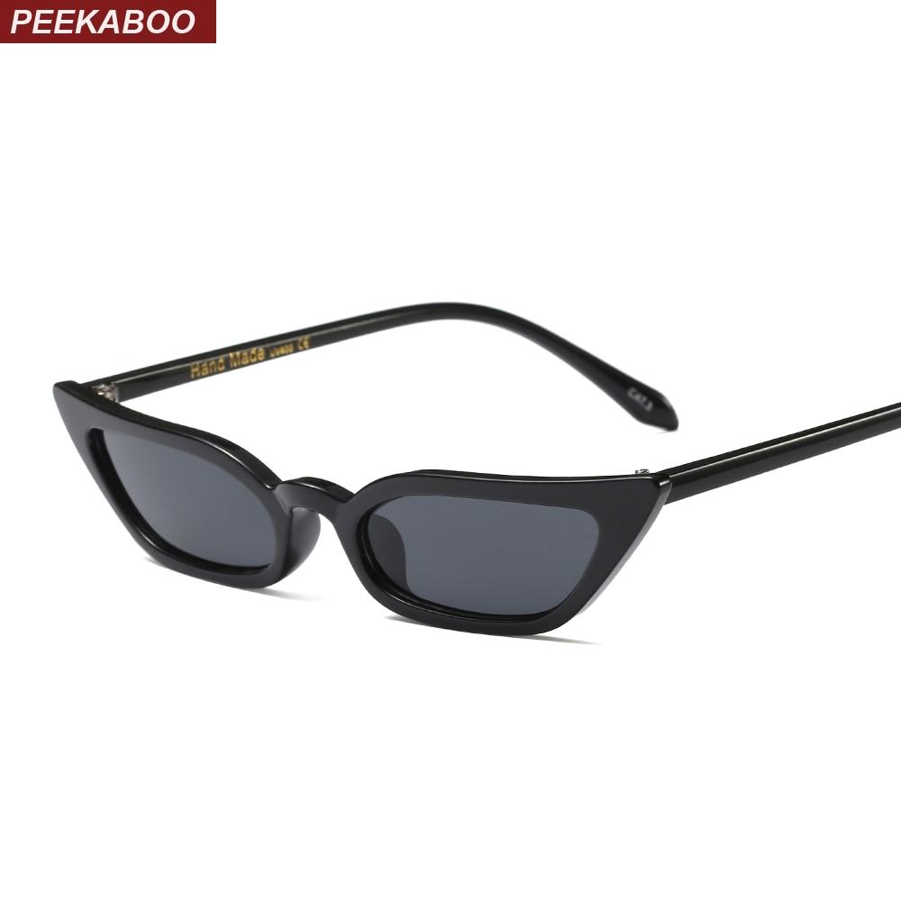 Peekaboo high quality red cat eye sunglasses women small frame black leopard female top selling sun glasses female uv400