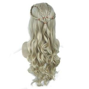 "Image 4 - StrongBeauty Daenerys Targaryen Drache Prinzessin Cosplay Perücke Halloween Kostüm Perücken Synthetische 32 ""in Net gewicht 500g"