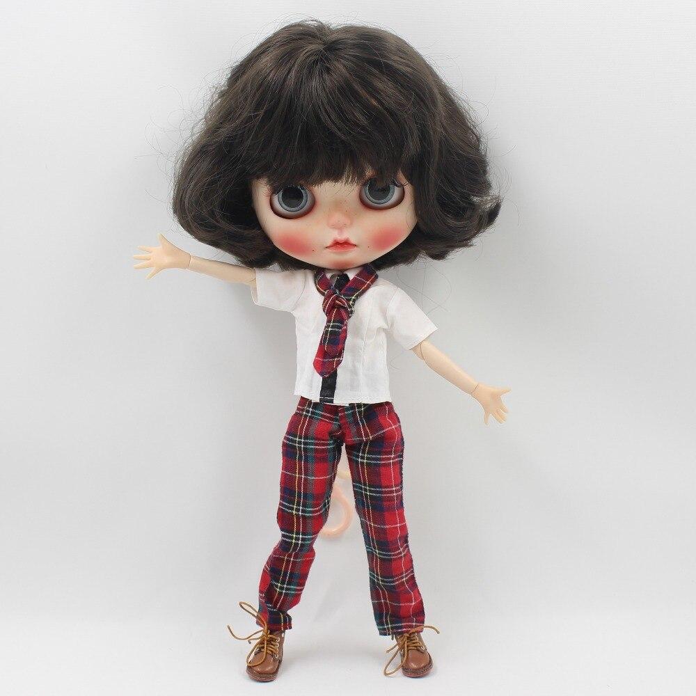 Neo Blythe Doll Red Plaid Uniform 2