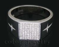 Unique Design Vintage Solid 14Kt White Gold 0.41Ct Diamond Engagement Ring For Sale