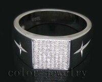 Unikalny Projekt W Stylu Vintage Solidna 14Kt White Gold 0.41Ct Diamentowy Pierścionek Zaręczynowy Na Sprzedaż