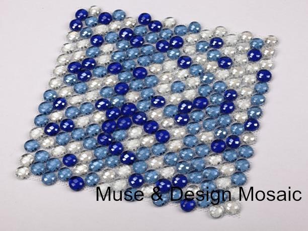 Mittelmeer Blau Weiß Runde Glas Mosaik Fliesen Küche Backsplash Badezimmer  Garten Grenze Liner Wand Boden Fliesen In Mittelmeer Blau Weiß Runde Glas  ...