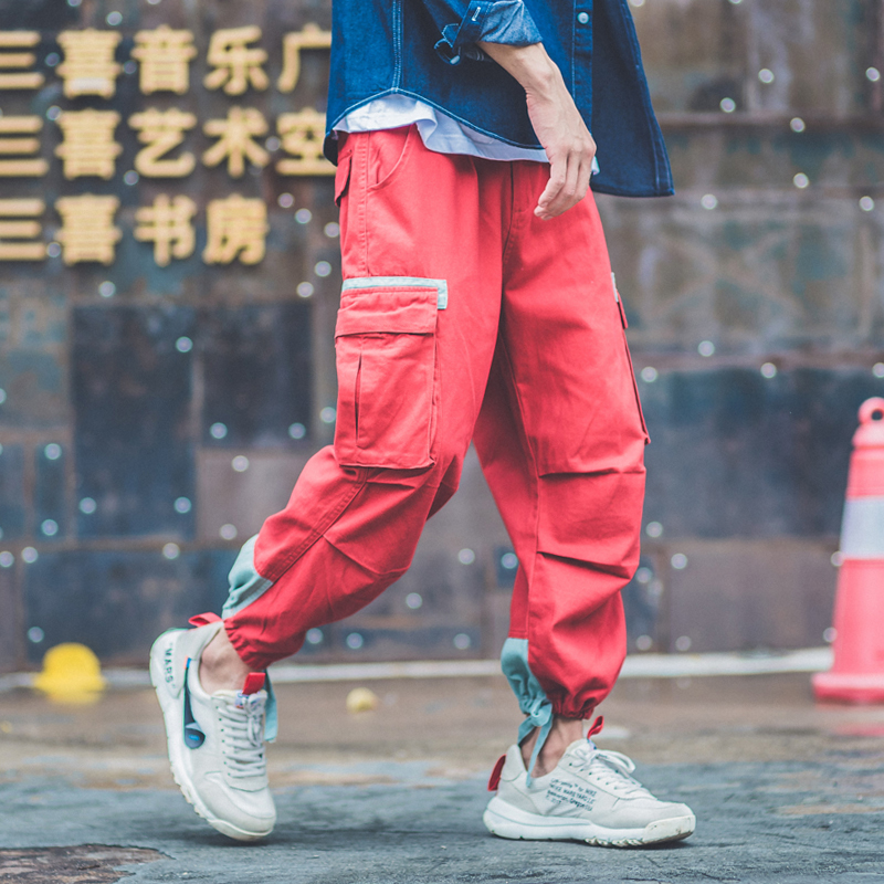 6255756a60ff Detail Feedback Questions about New 2019 Women Joggers Harajuku Cargo Pants  Pockets Bandages Feet Male Rock Punk Hip Hop Swag Harem Pants Women s  Sports ...