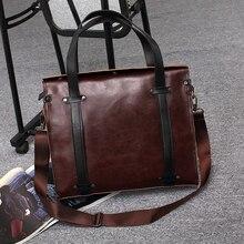 Male single shoulder bag Genuine Leather Bags Man Business Laptop Bag Briefcase Men s Messenger Bags