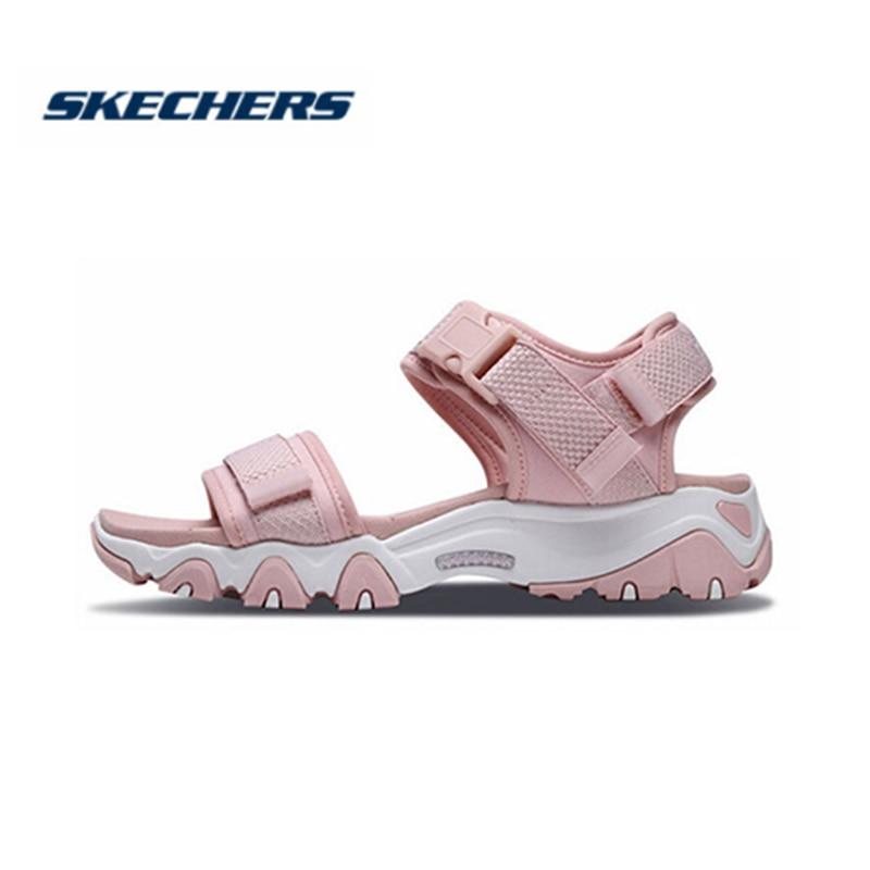 Женские сандалии на танкетке Skechers, уличные стильные спортивные сандалии на платформе, летняя обувь, 88888160 LTPK|Боссоножки и сандалии|   | АлиЭкспресс