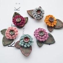 Patchs perlés pour couture, boutons en tissu, appliqués pour chaussures, vêtements
