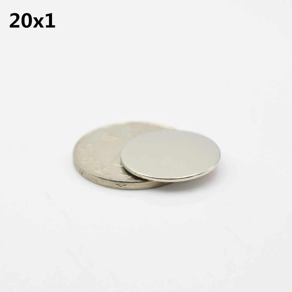15 Chiếc 20X1 Mm N52 Nam Châm Neodymium Với 3M Keo Dán Băng Keo 2 Mặt Thanh Cuboid vòng Tròn Nhỏ Siêu Vĩnh Viễn