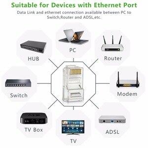 Image 5 - RJ45 connecteur Cat 6 Plug 8P8C modulaire réseau Ethernet LAN câble Cat 6 tête prise 20 pièces 50pcs 100 pièces RJ45 Cat6 sertissage connecteur
