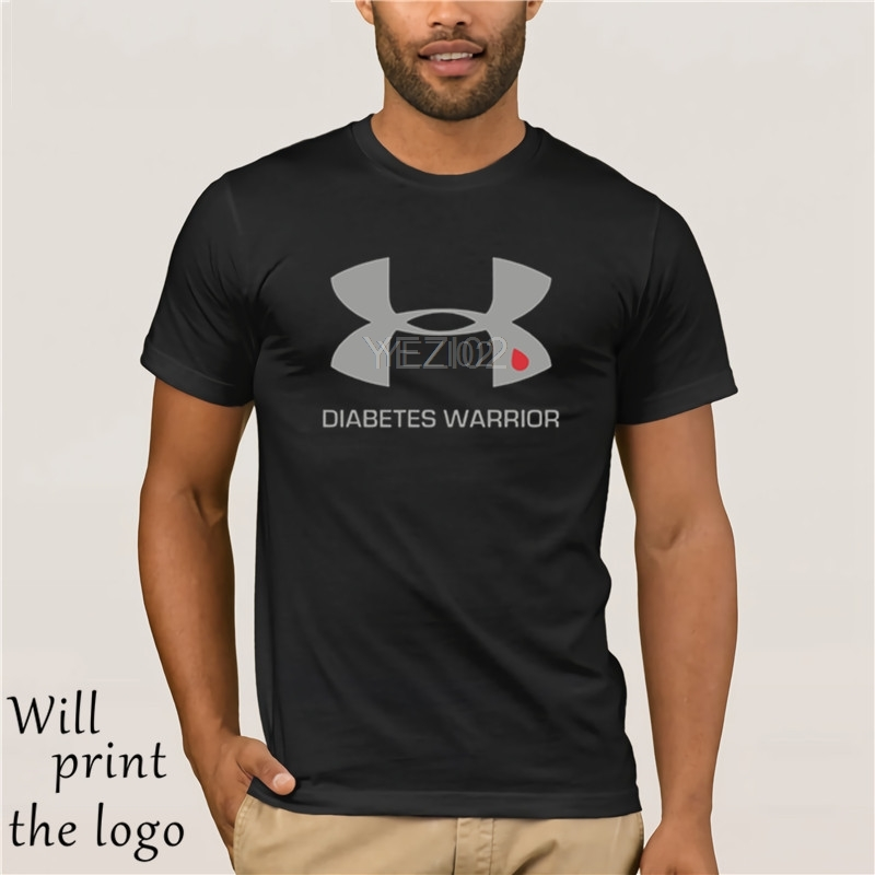 2019 Summer Hot Sale Style Brand Fashion Casual   T     Shirt   Diabetes Warrior   shirt   Brand Clothing