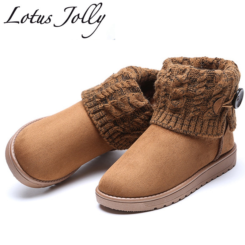 Snow Boots Winter Ankle Boots Women Shoes Plus Size Shoes 2017 Fashion Heels Winter Boots ...