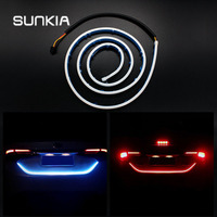 Car Styling Rear Tail Box Light Streamer Brake Turn Signal LED Lamp Strip Waterproof Universal Tail