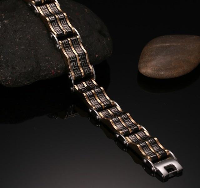 Top Quality Titanium steel inter-electric Strip pattern bracelet men and bracelets bangles charm bracelets for men