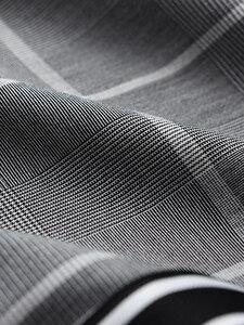 Image 4 - Minglu Pantalones a cuadros para hombre, pantalón a cuadros, de lujo, con cintura elástica, ajustado, hasta el tobillo, de talla grande, 4xl, de hilo teñido, informales