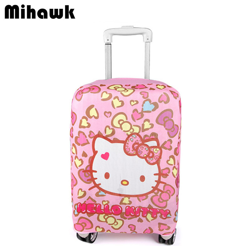 Mihawk Cartoon Cute Elastic Luggage Protector Girl Travel Rod Luggage Dust Cover Luggage Accessories Supplies Stuff Products