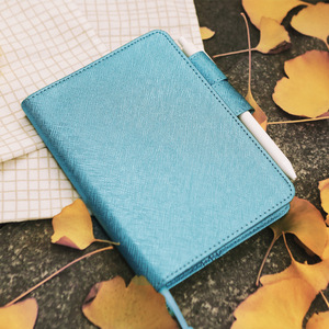 Image 4 - A5 A6 Parel licht PU leer losbladige notebooks cover hand reizen rekening cover DIY Planner Organizer hobo boek shell escolar