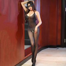 Hot Sale Open Crotch Thin Strap Black Bodystocking Women Shinny Glossy Lace Sheer Tansparent Sexy Lingerie Sexy Intimates Tights fashion rose floral sexy bodystocking fishnet sheer sexy lingerie charming exotric bodysuits open crotch mesh body stockings