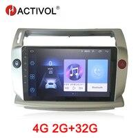 HACTIVOL 2 ГБ + 32 ГБ, Android 8,1 автомобиль радио для Citroen C4 C Triomphe C Quatre 2004 2009 Автомобильный dvd плейер автомобильный аксессуар 4G мультимедийная