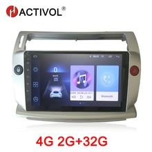 HACTIVOL 2G + 32G Android 9,1 Radio de coche para Citroen C4 c-triomphe C-Quatre 2004-2009 reproductor de dvd para coche accesorio 4G multimedia