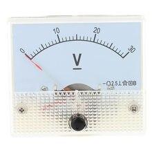DC 0-30 V Analog voltmetre Analog panel metre voltmetre şarj doktor Voltimetro dijital voltmetre medidor de potencia