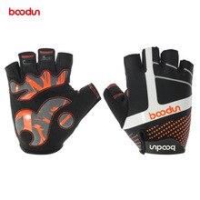 Boodun Cycling Gloves Half Finger Road Bike Bicycle Gloves SBR Pad Racing Biking Gloves Antiskid Breathable Short MTB Gloves цена