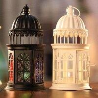 Gabbia di uccello di metallo portacandele decorativi Marocchino Lanterna Appesa candelieri d'epoca partito decorazioni per la casa romantica