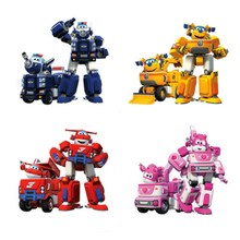 Action&Toy Figures 17*11cm Deformation Armor Super wings toy set Rescue Robot Super Wing Transformation Robot Fire Engines Toys patron saint deformation toy machine car people fit the fire rescue team