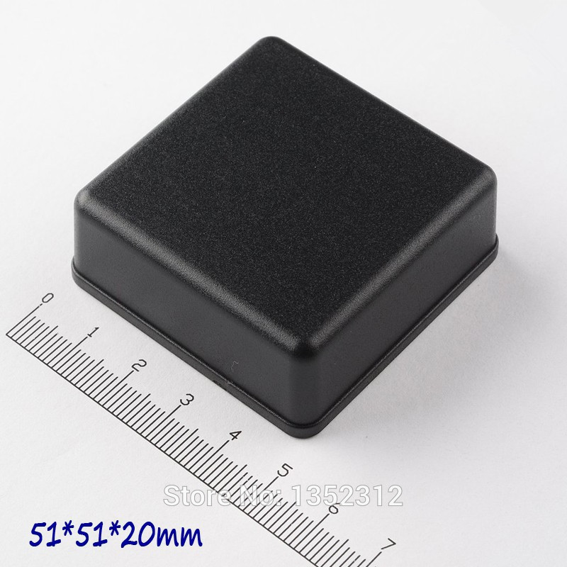 100 pcs/lot 51*51*20mm housing DIY IP54 waterproof small plastic enclosure for electronic abs distribution box switch box image