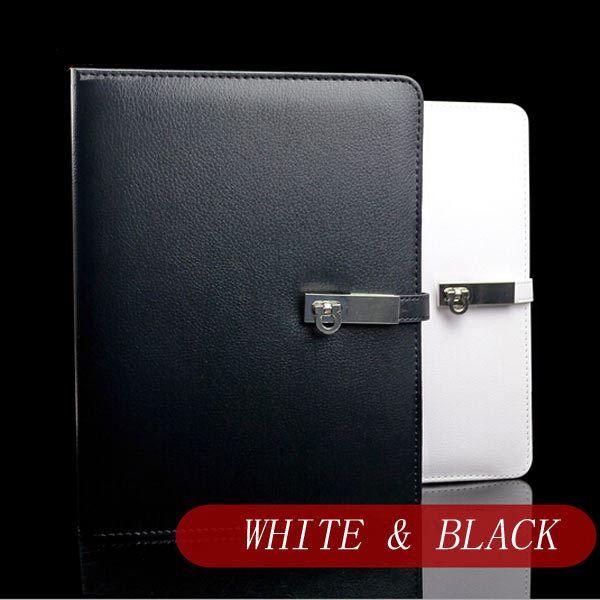 ФОТО Classical business black & white A5 spiral loose leaf gift organizer &planner notebook