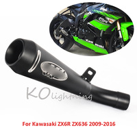 ZX6R ZX636 Motorcycle Exhaust Pipe Exhuast System Tail Escape Slip On Exhaust For Kawasaki ZX6R ZX636 2009 2016
