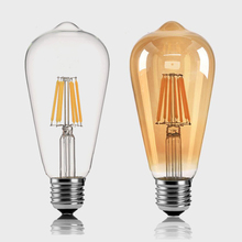LED Bulb ST64 Filament Lamp Edison Shape Vintage Pendant Light 220V 2W 4W 6W 8W Retro Decor for Home Loft Club Study Studio