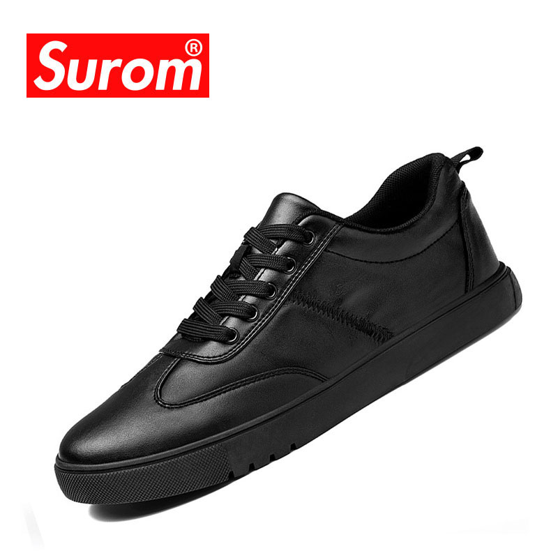 SUROM Summer Men Casual Flats Shoes Mesh Breathable Lace Up Wear-resistant Sneakers Luxury Brand Fashion Footwear Zapatos Hombre