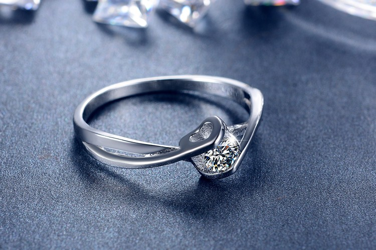 Fashion shiny CZ zircon 925 sterling silver ladies wedding rings jewelry wholesale drop shipping women finger ring no fade cheap in Wedding Bands from Jewelry Accessories