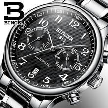 שוויץ אוטומטי מכאני גברים שעון ספיר Binger יוקרה מותג שעונים זכר Relogio עמיד למים גברים של שעונים B 603 52