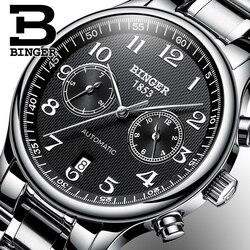 Szwajcaria automatyczne mechaniczne mężczyźni oglądać Sapphire Binger luksusowej marki zegarki męskie Relogio wodoodporne męskie zegarki B-603-52