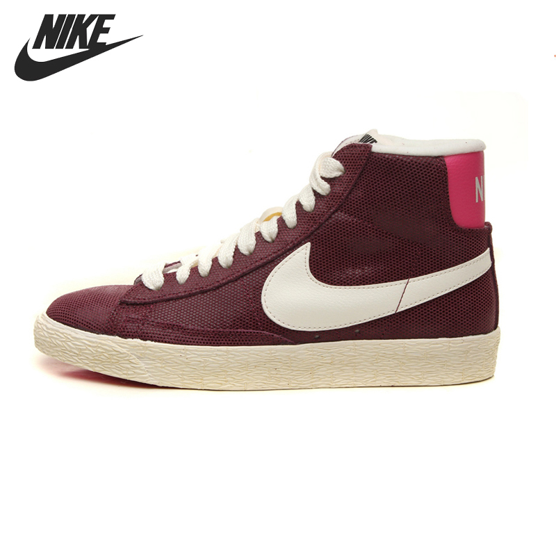 Original NIKE BLAZER MID SUEDE VINTAGE Women's Skateboarding Shoes Sneakers original nike wmns blazer high roll suede women s skateboarding shoes 585561 002 sneakers free shipping