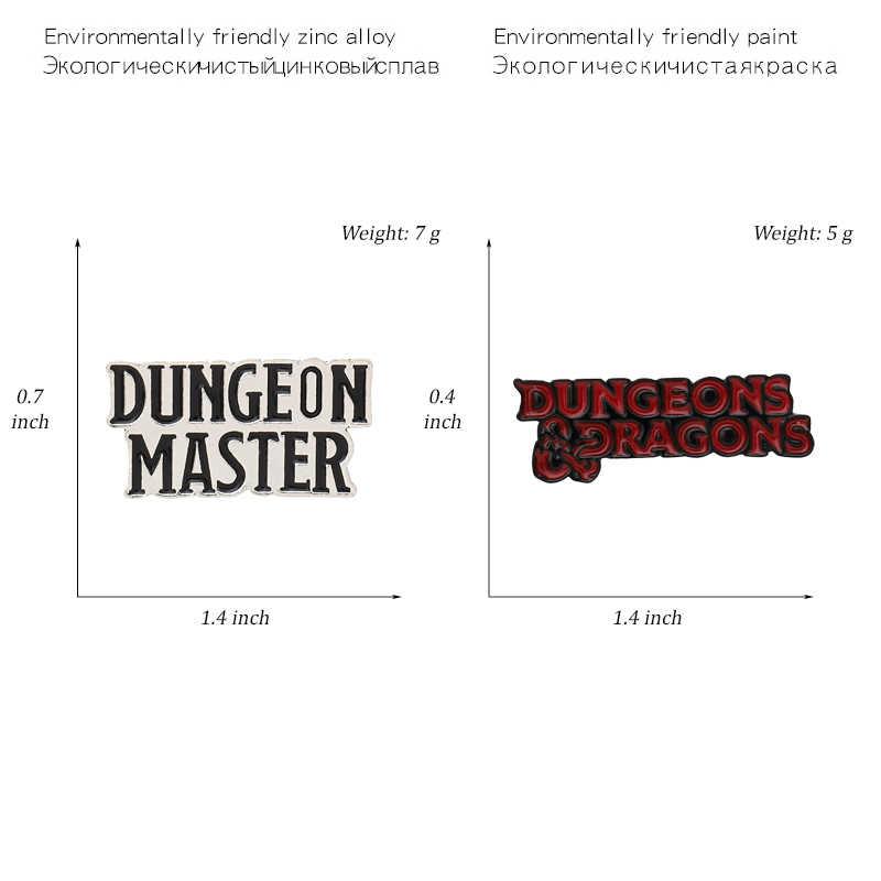 ゲームフレーズピンダンジョンマスターブローチバッジクールパンクダークスタイルエナメルバックパックピンゲームファンのギフトジュエリーの卸売