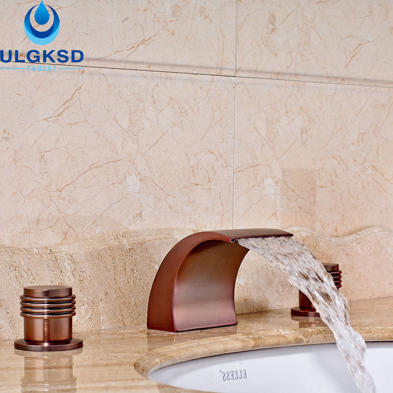 Ulgksd Oil Rubbed Bronze Basin Bathroom Faucet Deck Mount Bathroom Sink Faucet Hot and Cold Mixer Taps pastoralism and agriculture pennar basin india