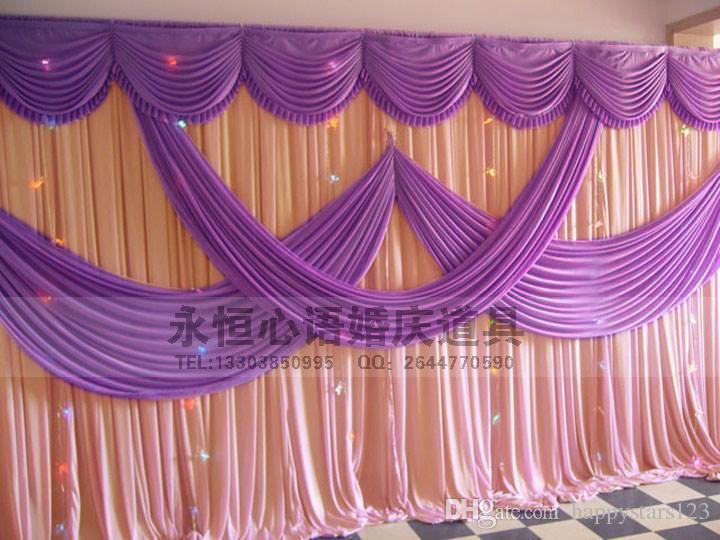 Ice Silk Satin Wedding Background Curtain Party Backdrop 3m6m10ft20ft Props Decorations Free Shipping In Backdrops From Home