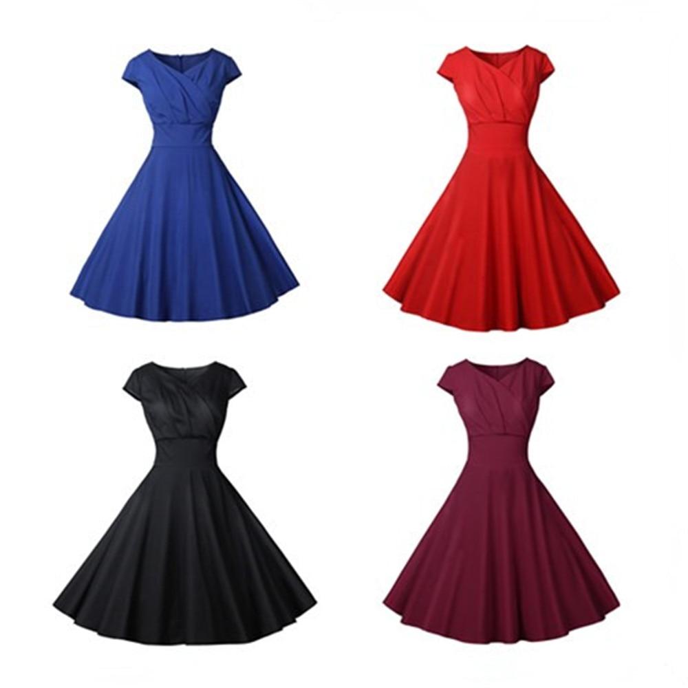 Sexy Vintage Swing Dress Women Summer Dot Summer Casual Midi Dresses Elegant Party Dress Vestido Tunic Plus Size Robe Femme