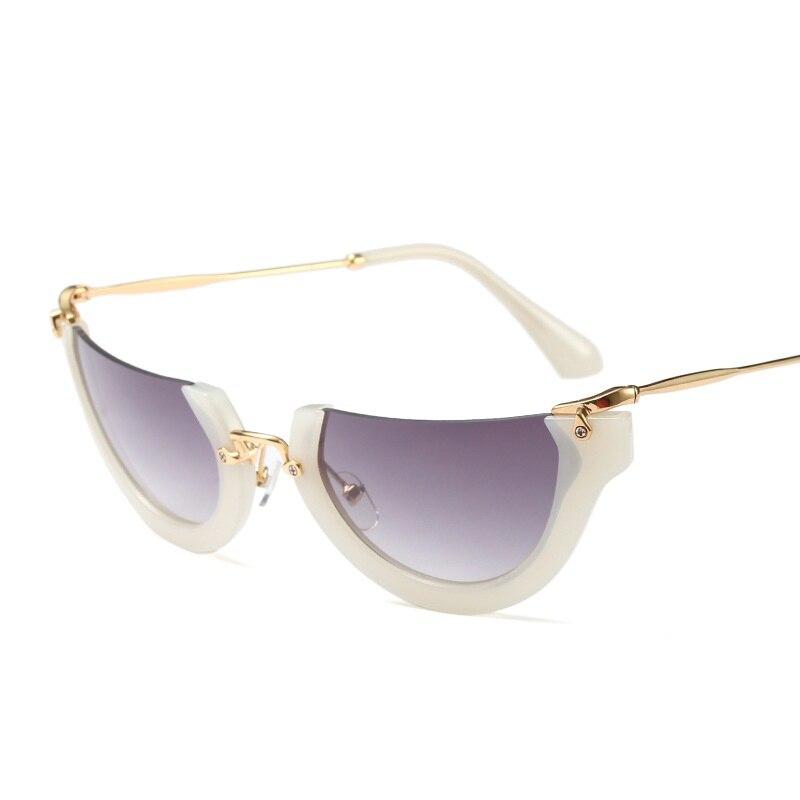 d542332213 SOLO TU Fashion Trend Semi Rimless Women Men Sun Glasses Brand Designer  Personality Cosy Shades All Match Half Frame Sunglasses-in Sunglasses from  Apparel ...