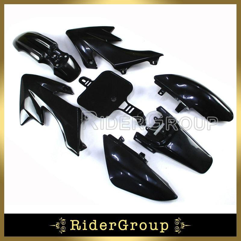 Race-Guy Black Fairing Plastic Fender Bolt Screws Kits Throttle Grips For Honda CRF50 XR50 50cc 70 90cc 110cc 125cc 150cc 160cc Pit Bike
