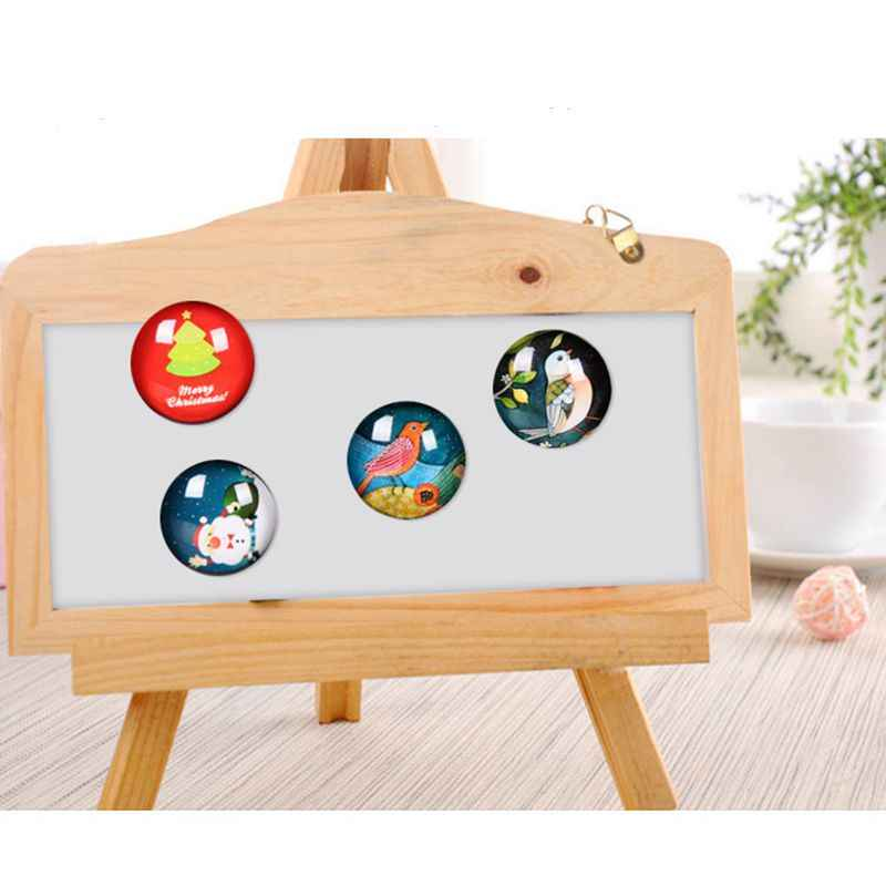 12pcs Japan Cat Head with Fish  Fridge Magnet Souvenir Cute Cartoon Glass Gemstone Luminous Refrigerator Removable Sticker